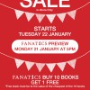 Summer Sale Starts 22 January 2012